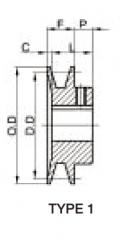 Fixed Sheave AK Drawings Type 1