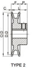 Fixed Sheave AK Drawings Type 2
