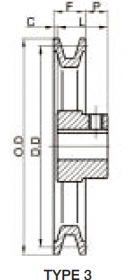 Fixed Sheave AK Drawings Type 3